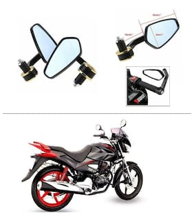 AutoStark Stealth Style Rear View Mirror Gold Line For Honda CBZ Xtreme