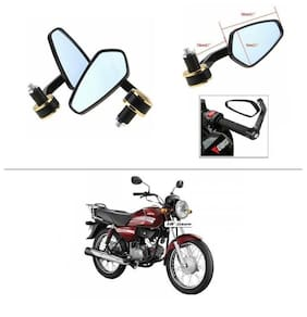AutoStark Stealth Style Rear View Mirror Gold Line For Hero HF Dawn