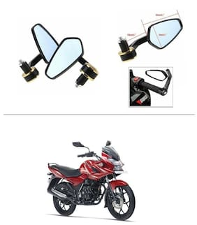AutoStark Stealth Style Rear View Mirror Gold Line For Honda CB Trigger