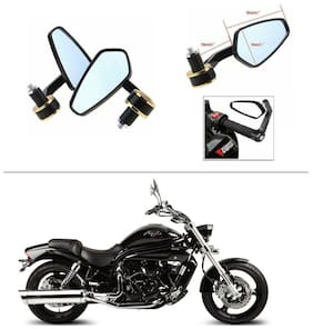 AutoStark Stealth Style Rear View Mirror Gold Line For Hyosung Aquila Pro 650