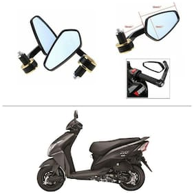 AutoStark Stealth Style Rear View Mirror Gold Line For Honda Dio