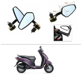 AutoStark Stealth Style Rear View Mirror Gold Line For Honda Activa i