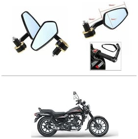 AutoStark Stealth Style Rear View Mirror Gold Line For Bajaj Avenger 220 street