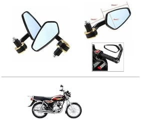 AutoStark Stealth Style Rear View Mirror Gold Line For Honda Activa