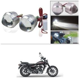 AutoStark Ultra Bright Scooty/Motorcycle/Bike White Flasher Led Fog Light- Set Of 2 For Bajaj Avenger 220 street