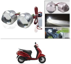 AutoStark Ultra Bright Scooty/Motorcycle/Bike White Flasher Led Fog Light- Set Of 2 For Honda Activa