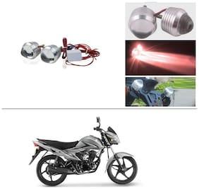 AutoStark Ultra Bright Scooty/Motorcycle/Bike Red Flasher Led Fog Light- Set Of 2 For Suzuki Hayate