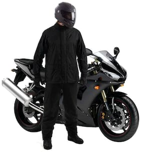 AutoStark Unisex Waterproof Raincoat With detachable Hoods, Unisex Portable Rain Suit (M) For Honda Aviator