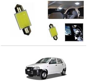 AutoStark White LED Lamp Car Dome Ceiling Roof Interior Reading Light-Maruti Suzuki Alto (Old)