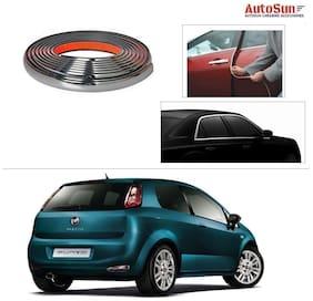 AutoSun 10mm Side Window Stylish Chrome Beading Roll 10 m -  Fiat New Punto 2015