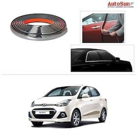 AutoSun 10mm Side Window Stylish Chrome Beading Roll 10 m -  Hyundai Xcent (2014 Upwards)