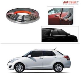 AutoSun 10mm Side Window Stylish Chrome Beading Roll 20 m -  Maruti Suzuki Swift Dzire (Old)