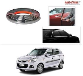 AutoSun 10mm Side Window Stylish Chrome Beading Roll 20 m -  Maruti Suzuki Alto-K10