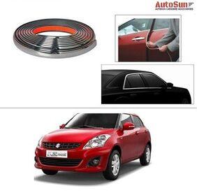 AutoSun 10mm Side Window Stylish Chrome Beading Roll 10 Meter -  Maruti Suzuki Swift Dzire (New)