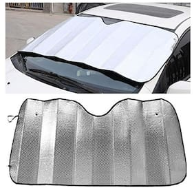 AutoSun 130*60cm Auto Car Windshield Front Rear Window Visor Cover Sunshade Fold Foil Silver For   Renault Kwid