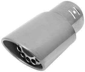 AutoSun A115 Gunner Oval Car Exhaust Silencer Tip Chrome For Mahindra Quanto