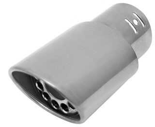 AutoSun A115 Gunner Oval Car Exhaust Silencer Tip Chrome For Renault Scala