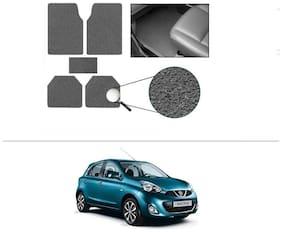 AutoSun Anti Slip Noodle Car Floor Mats Set Of 5 Grey Nissan Micra