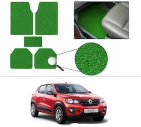 AutoSun Anti Slip Noodle Car Floor Mats Set Of 5 Green Renault kwid