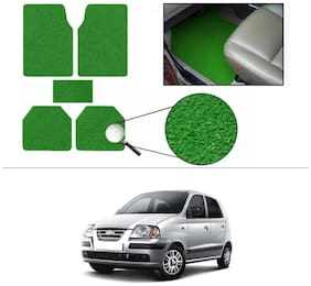 AutoSun Anti Slip Noodle Car Floor Mats Set Of 5 Green Hyundai Santro Xing