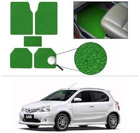 AutoSun Anti Slip Noodle Car Floor Mats Set Of 5 Green Toyota Etios Liva