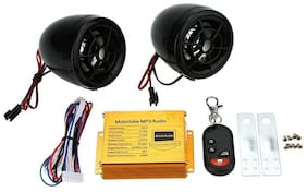 AutoSun Anti Theft Alarm & Audio System MP3 With FM Dual Speaker Function For Royal Enfield Bullet 500