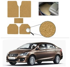 AutoSun Anti Slip Noodle Car Floor Mats Set Of 5 Beige Maruti Suzuki Ciaz