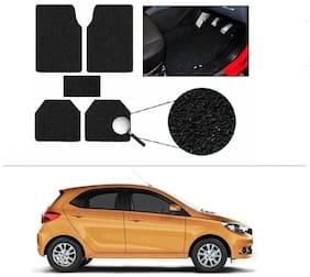 AutoSun Anti Slip Noodle Car Floor Mats Set Of 5 Black tata tiago