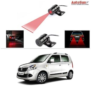 AutoSun Bike Rear Laser Safety Line Fog Light Red For Maruti Suzuki Wagon R Duo