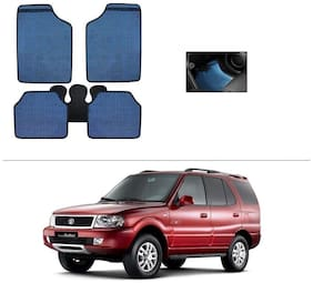 AutoSun Blue Odourless Car Floor/Foot Mat Set Of 5 Tata Safari