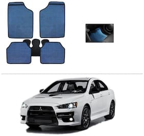 AutoSun Blue Odourless Car Floor/Foot Mat Set Of 5 Mitsubishi Lancer