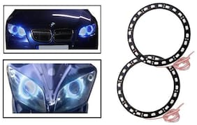 AutoSun Blue Angel Eyes SMD LED Ring Light Devil Light (set of 2)