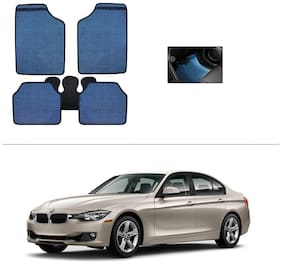 AutoSun Blue Odourless Car Floor/Foot Mat Set Of 5 BMW 3-Series (320D, 320D Sport, 328i, Corporate Edition)