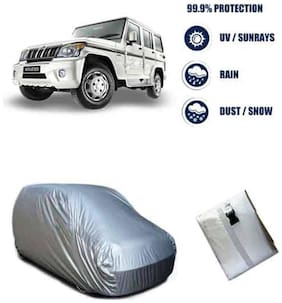 AutoSun - Bright Silver Matte Car Body Cover For New Mahindra Bolero