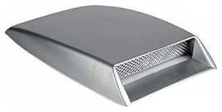 AutoSun Car Turbo Style Air Intake Bonnet Scoop Silver For Tata Sumo