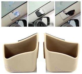 AutoSun Car Pillar Pocket Holder Box Cigarette Cell phone Sunglass Holder Beige - Skoda Laura