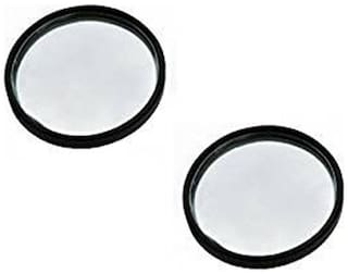 Car Blind Spot Convex Rear View Mirror With Black Corners (Set Of 2)