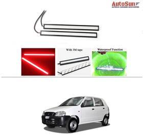 AutoSun Daytime Running Lights Cob LED DRL (Red)- Maruti Suzuki Alto (Old)