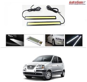 AutoSun Daytime Running Lights Cob LED DRL (White)- Hyundai Santro Xing