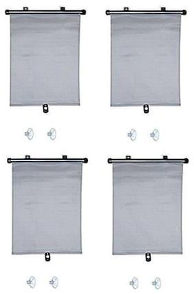 Autosun Delux Car Window Roller Curtain Grey  (Set of 4) - Mahindra Quanto