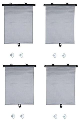 Autosun Delux Car Window Roller Curtain Grey  (Set of 4) - Mahindra Quanto