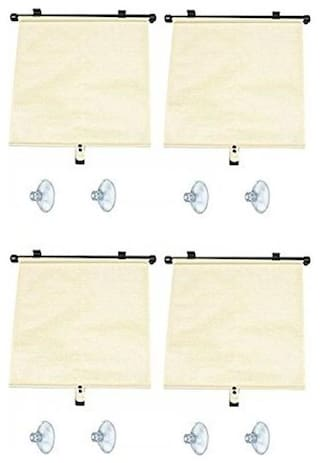 Autosun Delux Car Window Roller Curtain Beige  (Set of 4) - Tata Indica