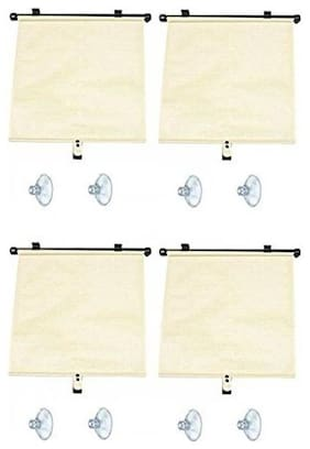 Autosun Delux Car Window Roller Curtain Beige  (Set of 4) - Toyota Camry