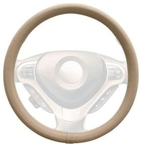 AutoSun Finger Grip Car Steering Cover Beige - Hyundai Santro