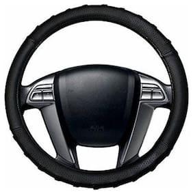 AutoSun Finger Grip Car Steering Cover Black - Maruti Suzuki SX4