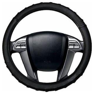 AutoSun Finger Grip Car Steering Cover Black - Maruti Suzuki Swift Dzire