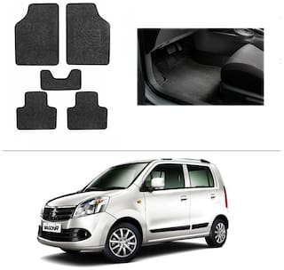 AutoSun Heavy Quality Set of 5 Carpet Black Car Foot Mat / Car Floor Mat Maruti Suzuki Wagon R