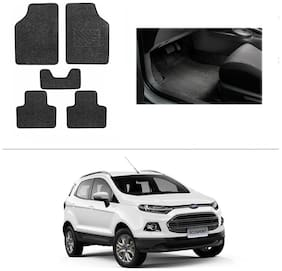 AutoSun Heavy Quality Set of 5 Carpet Black Car Foot Mat / Car Floor Mat Ford Ecosports