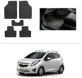 AutoSun Heavy Quality Set of 5 Carpet Black Car Foot Mat / Car Floor Mat Chevrolet Beat