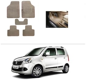 AutoSun Heavy Quality Set of 5 Carpet Beige Car Foot Mat / Car Floor Mat Maruti Suzuki Wagon R